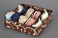 Органайзер для белья без крышки 7 отделений Мокко, Органайзер для білизни без кришки 7 відділень Мокко, Органайзеры для вещей и обуви