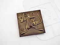 Пластиковая форма для шоколада Три сыра