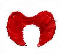 Крылья Ангела Большие 41х59см (красные) к127, Крила Ангела Великі 41х59см (червоні) к127, Маскарадные крылья