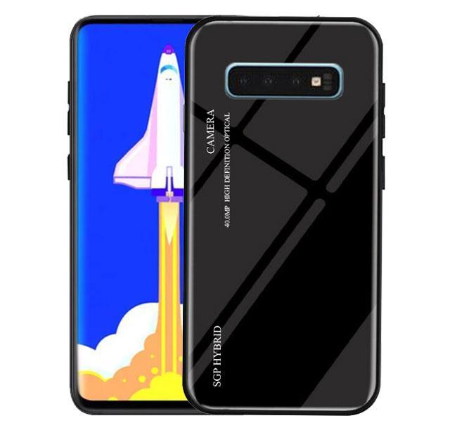 Чохол бампер Primo Gradient Glass для Samsung Galaxy S10 Plus (SM-G975) - Black