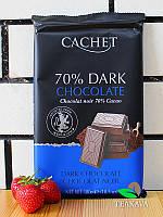 Шоколад черный Cachet Dark Chocolate 70%, 300 г