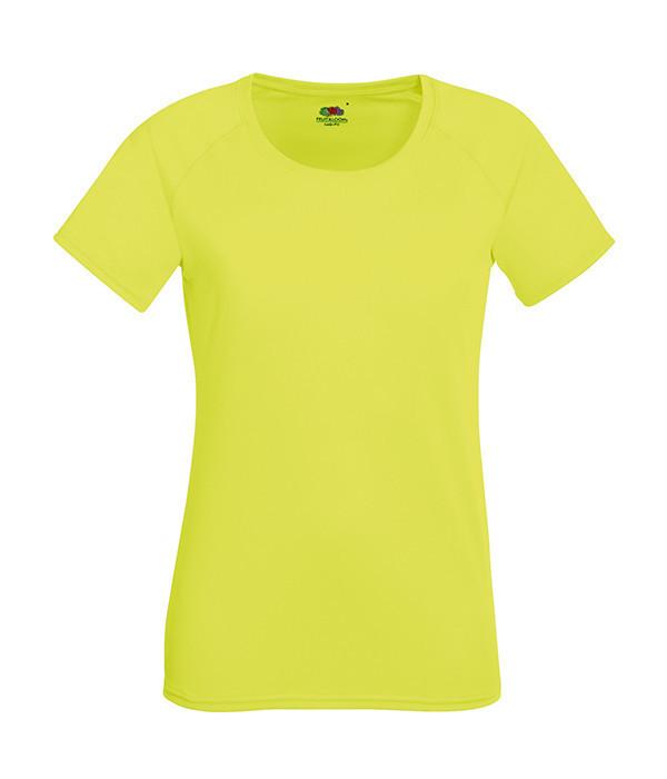 Женская спортивная футболка 2XL, Ярко-Желтый