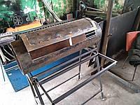 Процесс создания мангала с грилем и коптильней