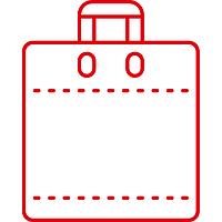Пакеты с логотипом с петлевой ручкой