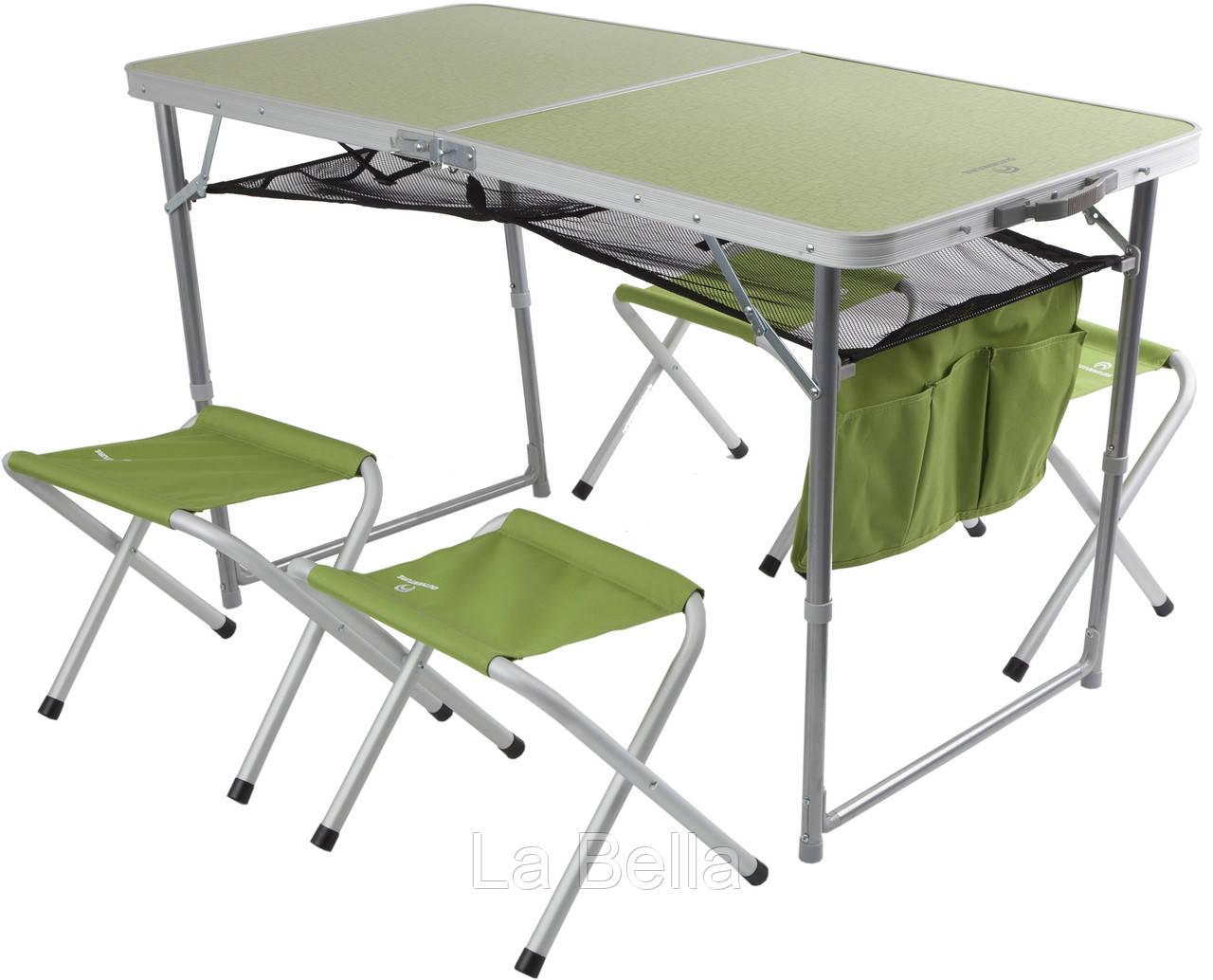 Туристический Набор раскладной мебели: стол, 4 стула