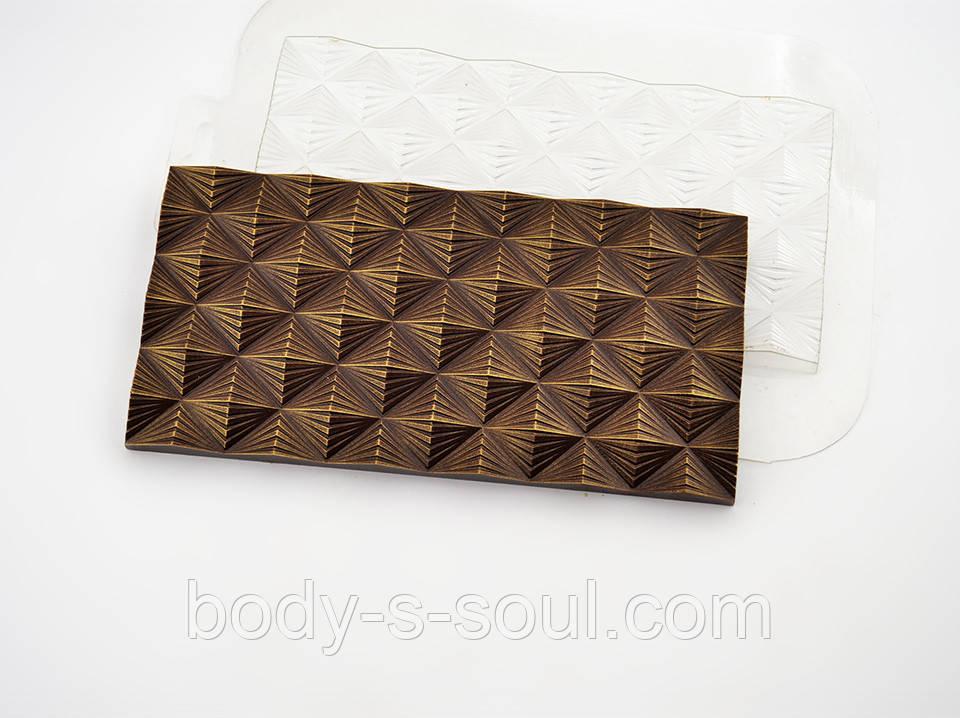 Пластиковая форма для шоколада Плитка Инфлексия