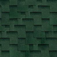 Черепица SHINGLAS Ультра Джайв Аккорд (зеленая) СБС-модифицированный битум