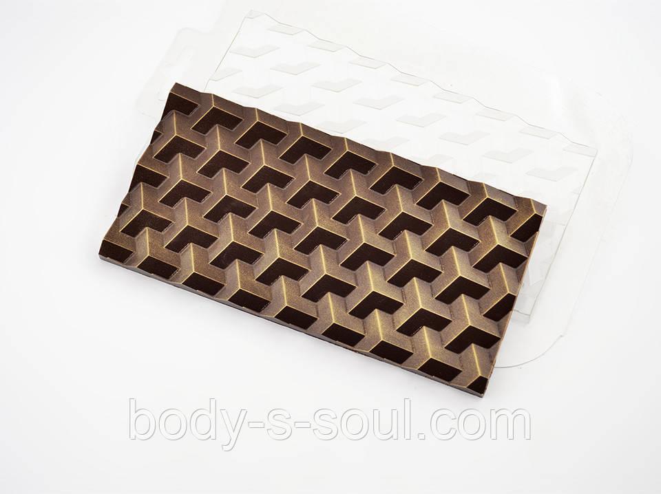 Пластиковая форма для шоколада Плитка Кубики Экстра