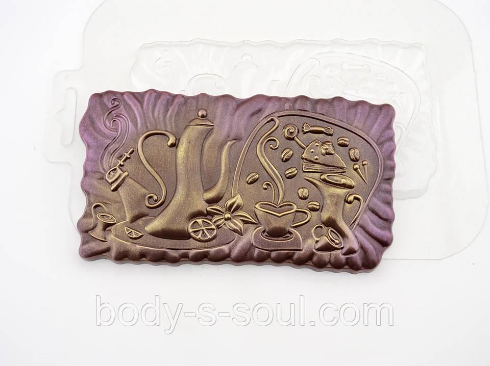 Пластиковая форма для шоколада Жизнь с кофе