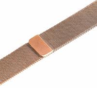 Ремешок браслет миланская петля Milanese loop Apple Watch 42 / 44 mm series 1/2/3/4, Light Gold