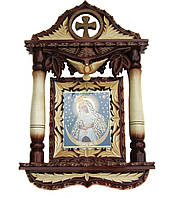 """Икона в деревянном киоте """"Остробрамская икона Божией Матери"""""""