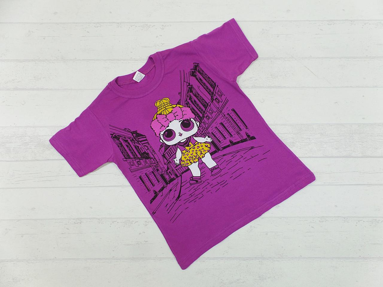 Детская футболка для девочек 4,5,6,7,8 лет