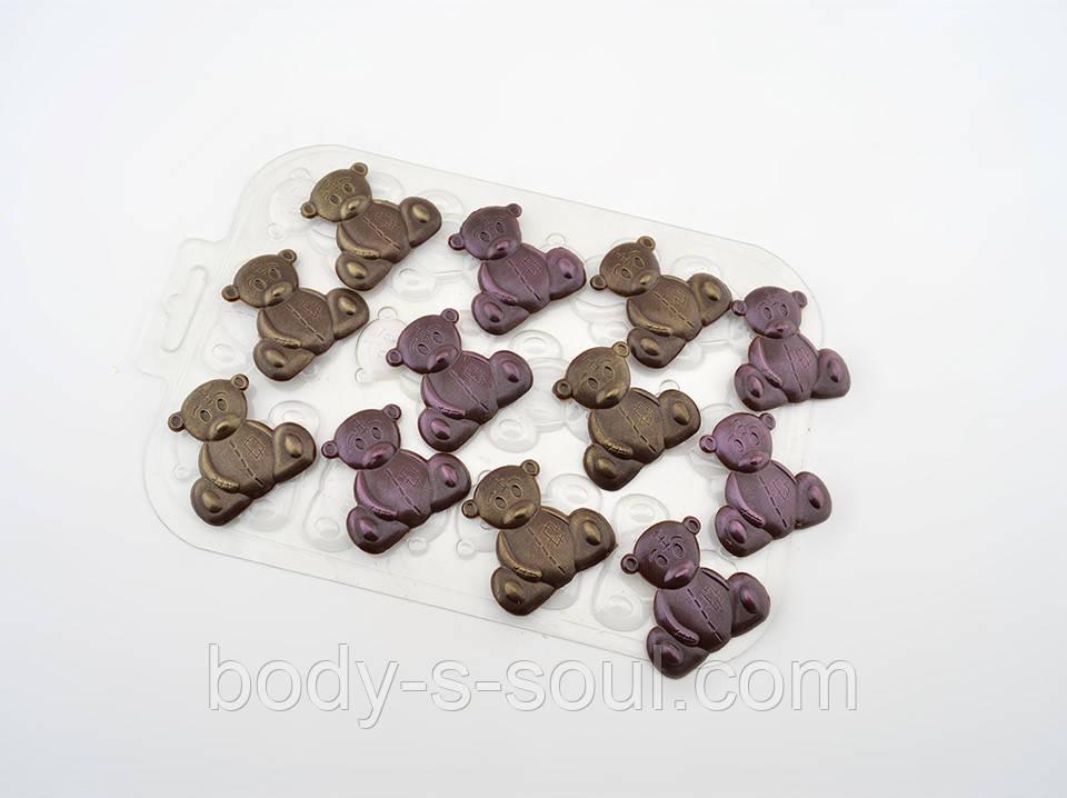 Пластиковая форма для шоколада Игрушечные медведи