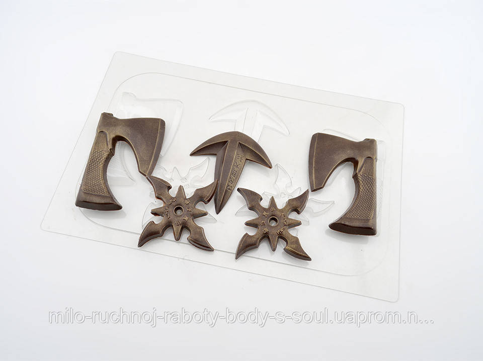 Пластиковая форма для шоколада Набор ниндзя