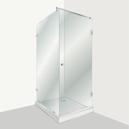 Душевая распашная кабина НСК  Розалия 190смх90смх60см, прозрачная, толщина 0.8см