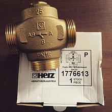 """Клапан трехходовой 1"""" HERZ TEPLOMIX 25 (1776613) для повышения температуры обратной линии 3-ходовой клапан Teplomix является смесительным клапаном прямого действия с термостатической вставкой"""