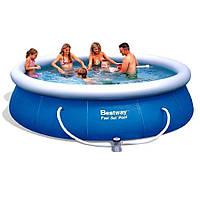 Надувной бассейн для дачи Bestway 57321 (396х84) с картриджным фильтром