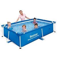 Каркасный бассейн Bestway 56401 (221х150х43) с картриджным фильтром