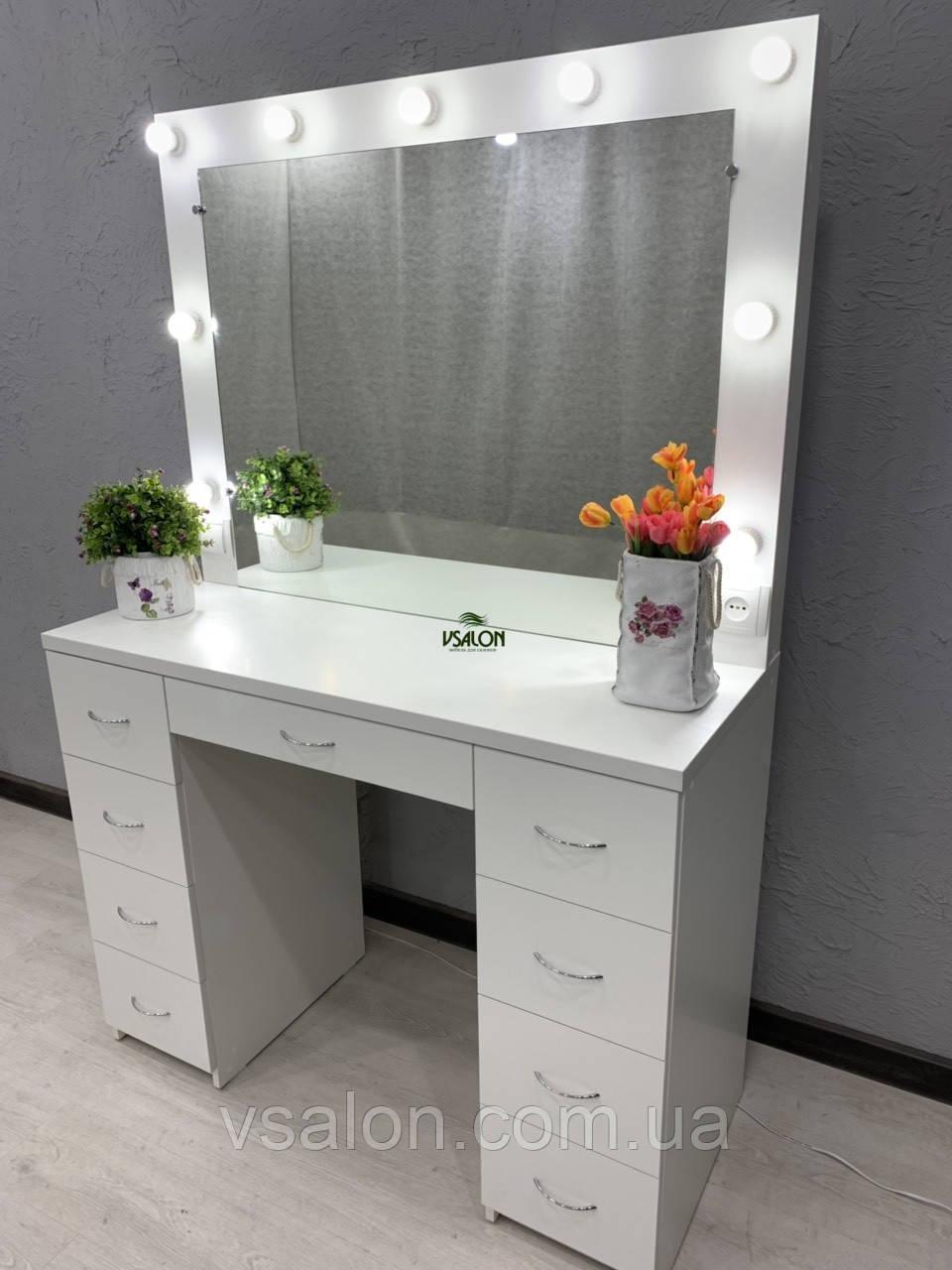 Стол для макияжа с лампочками V359