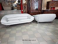 Новый кожаный комплект мягкой мебели кожаный диван модерн хай-тек /Код 822105