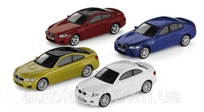 Оригинальный коллекционный набор из 4-х моделей BMW M-серии, 1:64 scale (80452365554)