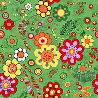 Детский ковролин Цветы 40, фото 1