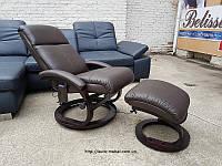 Новое кожаное кресло с массажное кресло кресло реклайнер пуф