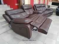 Комплект кожаной мягкой мебели релакс реклайнер производства Германии