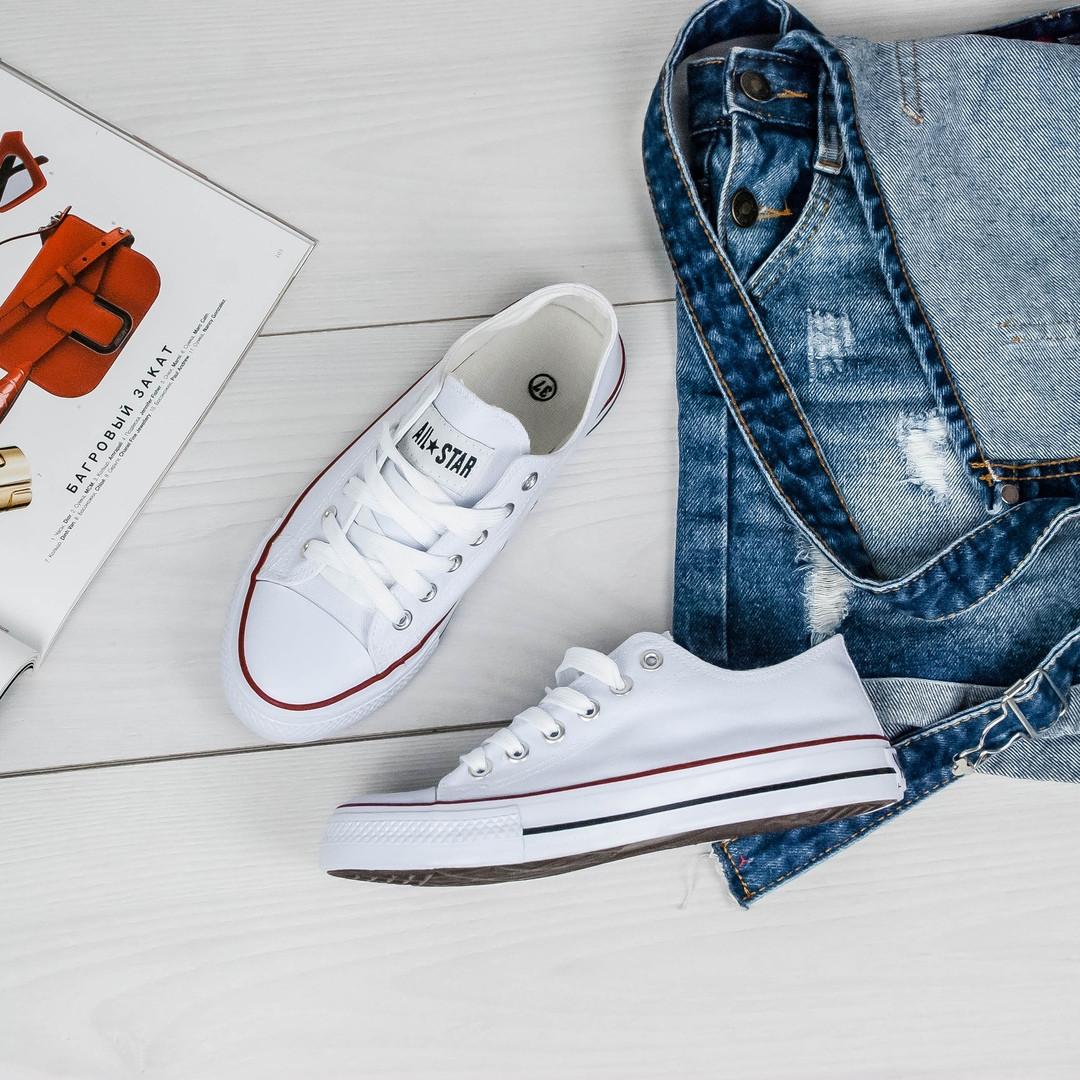 708a22cb ... Женские белые текстильные кеды в стиле конверсы converse all star, фото  9 ...