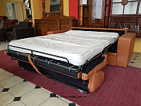 Новый кожаный диван раскладной диван шкіряний диван