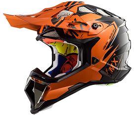 Шолом кросовий Ls2 MX470 Subverter Emperor (Black Orange) AK2522