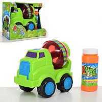 Игра с мыльными пузырями - Набор детских мыльных пузырей машина - бетономешалка, на батарейках,012