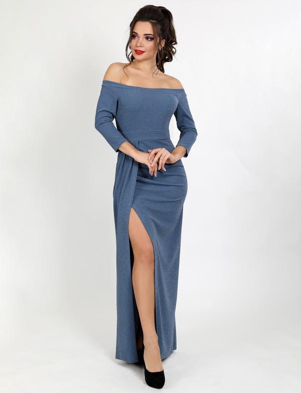 Платье женское серое   вечернее ENIGMA MKENG 3100