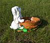 Подставка для цветов кашпо Заяц с кадкой, фото 3