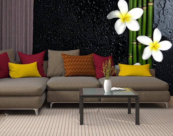 Фотообои текстурированные, виниловые Цветы, 250х380 см, fo01inV_fl11021
