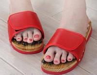 Массажные тапочки Foot treasure massage shoes морские камни.