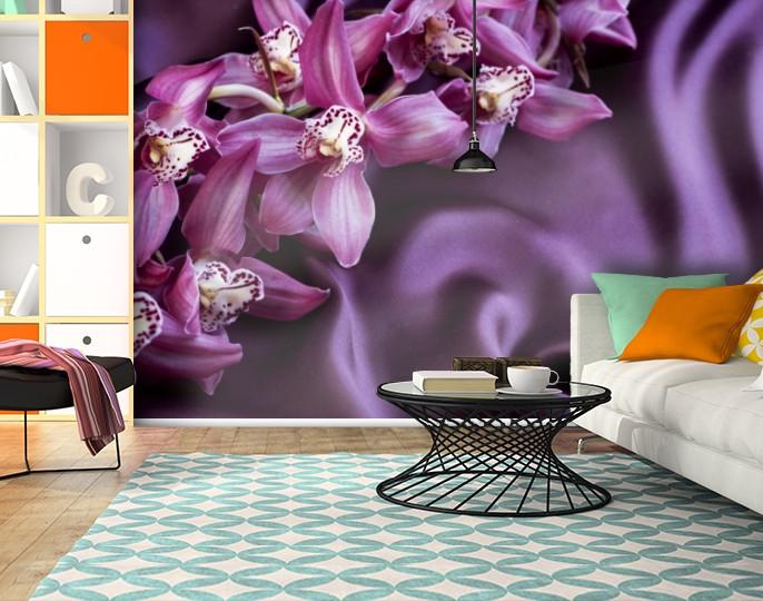Фотообои текстурированные, виниловые Цветы, 250х380 см, fo01inV_fl13434