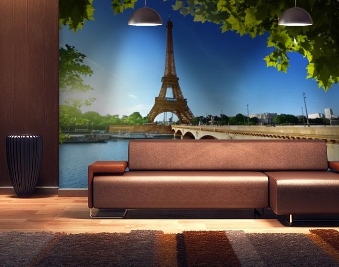 Фотообои текстурированные, виниловые Эйфелева башня, 250х380 см, fo01inV_ar10211