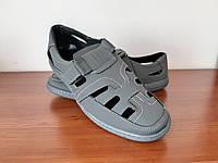 Туфлі мокасини чоловічі літні сірі зручні ( код 798  )