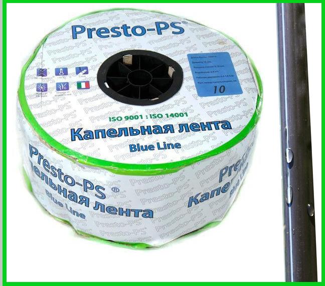 Щелевая капельная лента Presto Blue line 500 м (30 см)