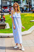 """Длинное платье """" Полоски """" Dress Code, фото 1"""