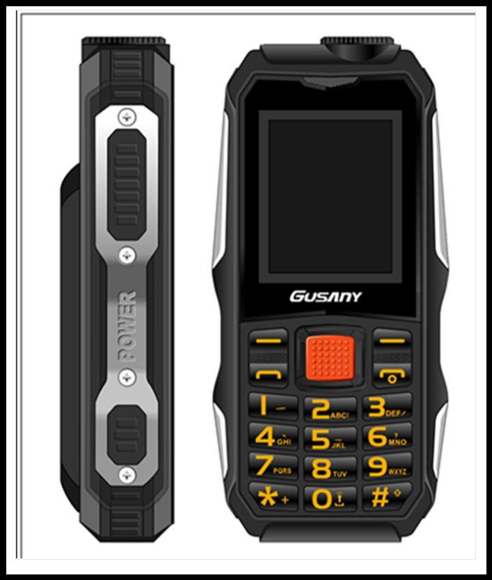 Захищений Мобільний телефон Guslny H700 чорний Акумулятор 2800mA! Ударостійкий