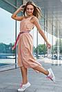 Женское летнее платье сарафан, цвет кофе, повседневное, молодёжное, гламурное, асимметричное, фото 4
