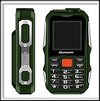 Захищений Мобільний телефон Guslny H700 зелений Акумулятор 2800mA! Ударостійкий, фото 1