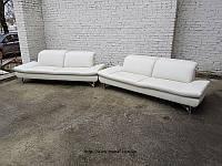 Новый кожаный комплект 3+3 диван шкіряний диван