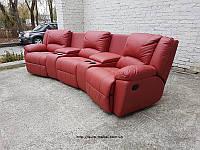 """Новый диван релакс """"реклайнер"""" шкіряний диван /Код 820116"""