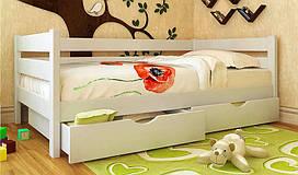 Кровать детская  из натурального дерева Амели (Ольха) (все размеры)