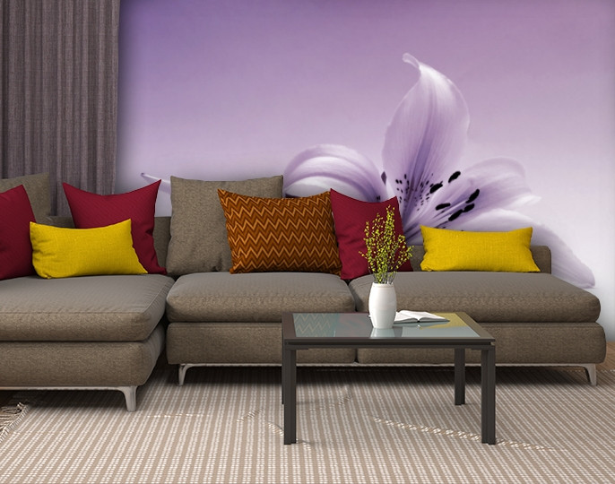 Фотообои текстурированные, виниловые Цветы, 250х380 см, fo01inV_fl13753