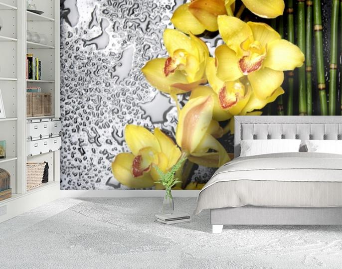 Фотообои бумажные гладь, Цветы, 200х310 см, fo01inB_fl13221