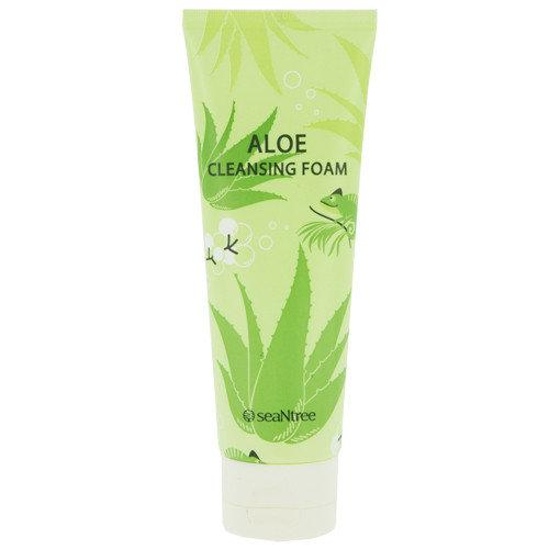 Успокаивающая пенка для умывания с алоэ SeaNtree Aloe 100 Cleansing Foam - 120 мл Корейская косметика